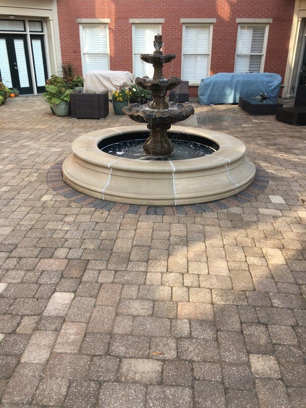 pressure washing fountain in atlanta after